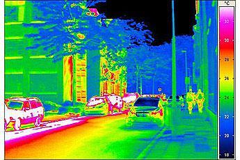 Тепловое излучение инфракрасного обогревателя ПЛЭН